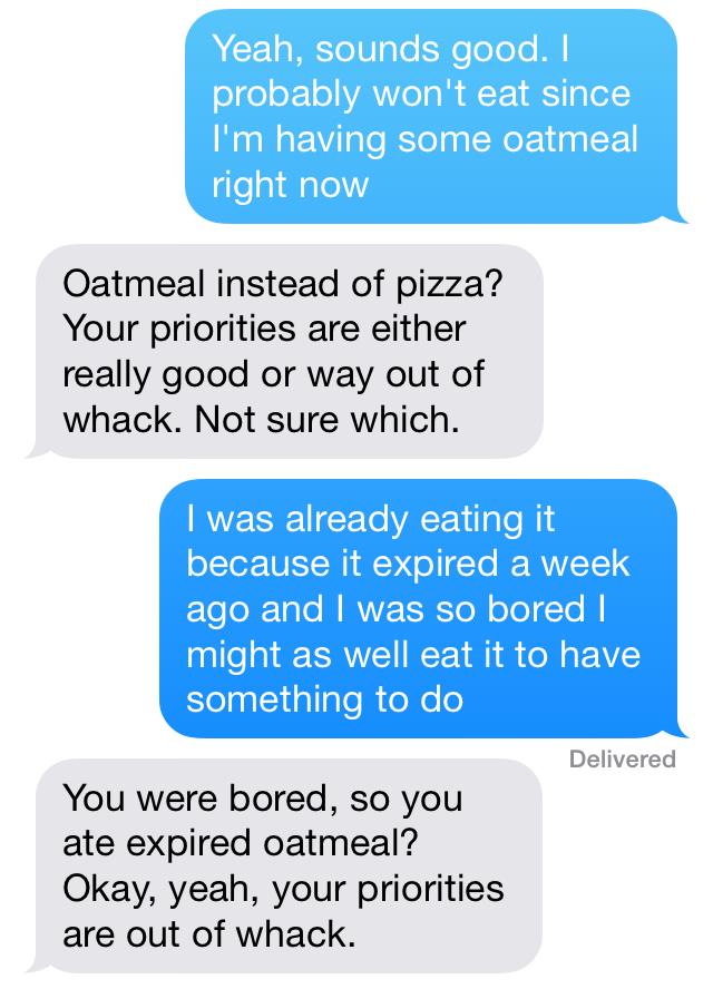 Expired Oatmeal