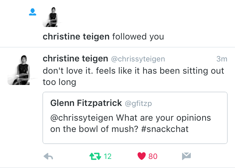 Teigen follow